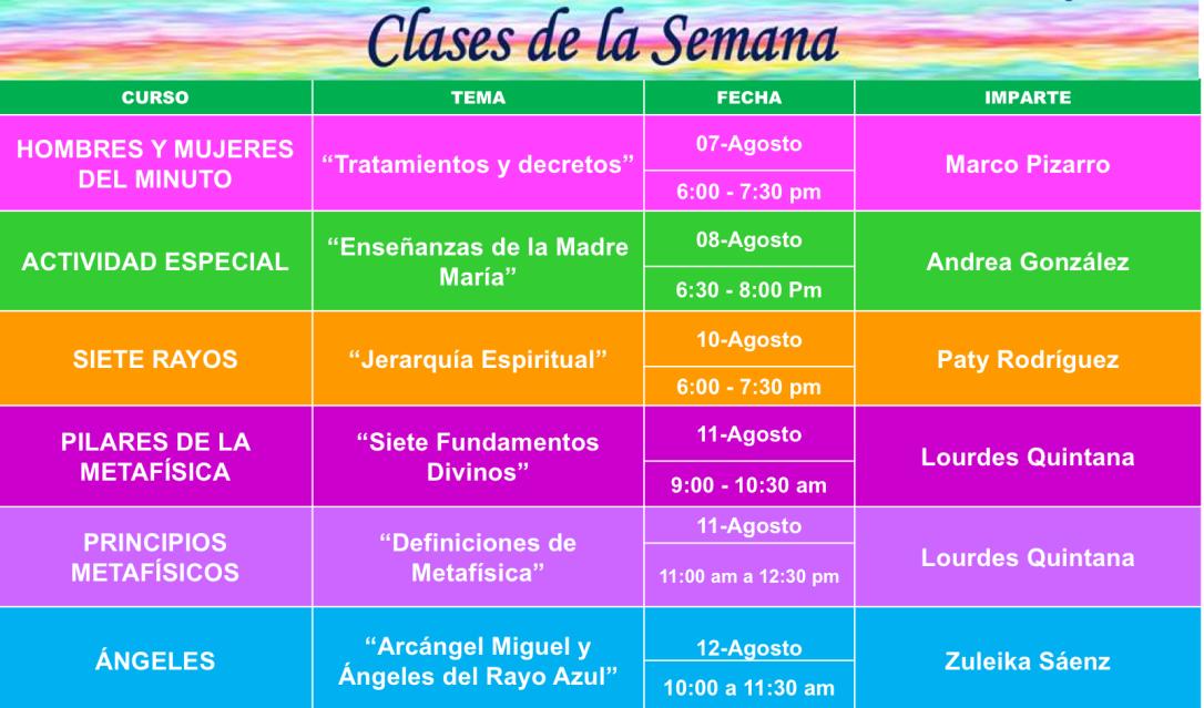 clases de la semana chihuahua final
